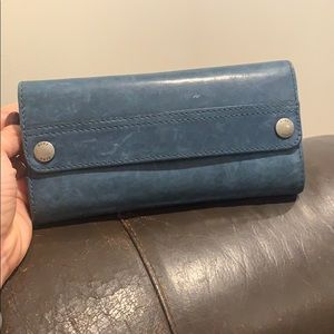 Frye Peacock Melissa Continental Wallet